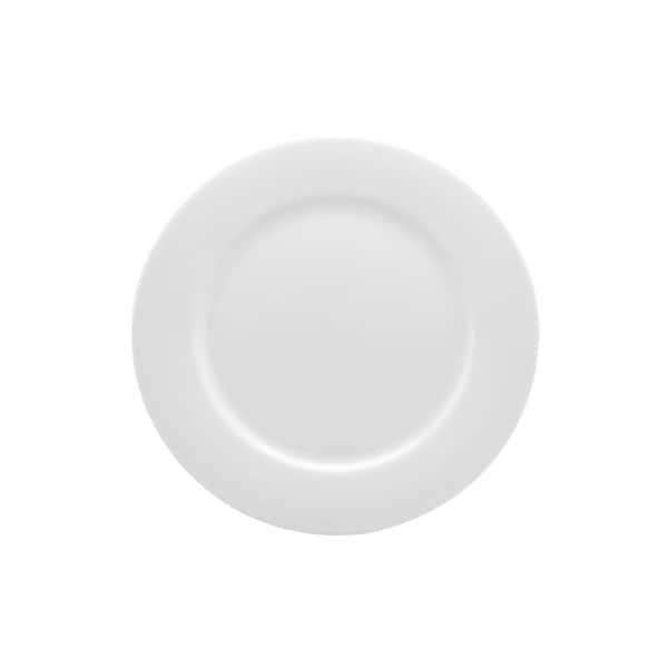 Pure Vanilla 10.75  Rimmed Dinner Plate (Set ...  sc 1 st  Overstock & Shop Pure Vanilla 10.75