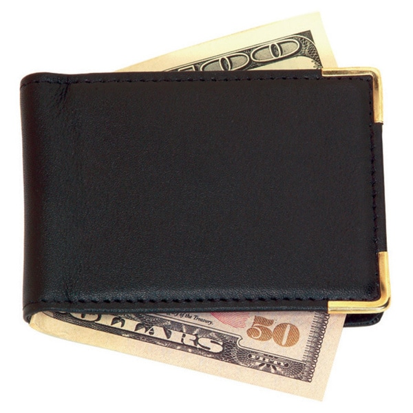 Royce Leather Large Magnetic Money Clip with Suede Lining