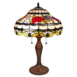 Amora Lighting Tiffany-style Floral Table Lamp