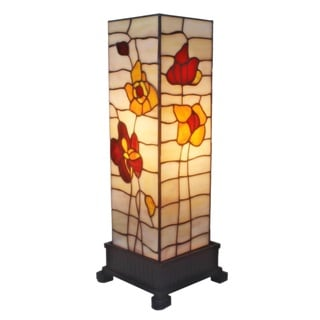 Amora Lighting Tiffany-style Poppies Table Lamp