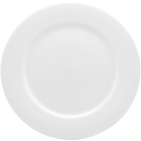 "Pure Vanilla Rimmed Entree Plate 8.75"" (Set of 4)"