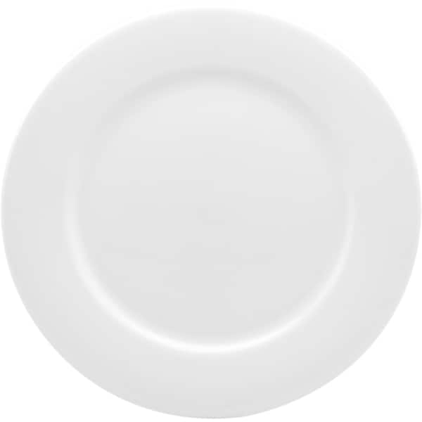 Pure Vanilla 8.75-inch Rimmed Entree Plate (Set of 4)