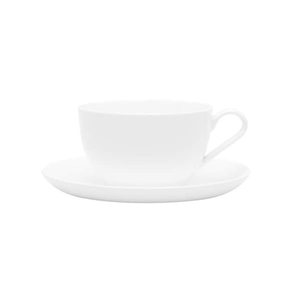 Red Vanilla Jumbo Cup/ Saucers (Set of 2)