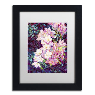 Mandy Budan 'Cascade' White Matte, Black Framed Wall Art