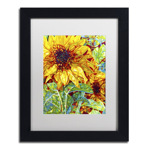 Mandy Budan 'Summer In The Garden' White Matte, Black Framed Wall Art