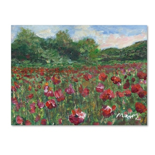 Manor Shadian 'Poppy Field Wood' Canvas Art