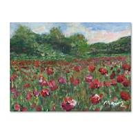 Manor Shadian 'Poppy Field Wood' Canvas Art