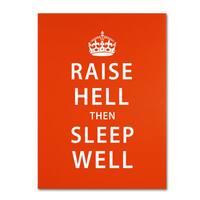 Megan Romo 'Raise Hell VI' Canvas Art - Multi