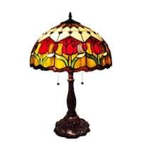 Amora Lighting Tiffany-style Tulips Table Lamp