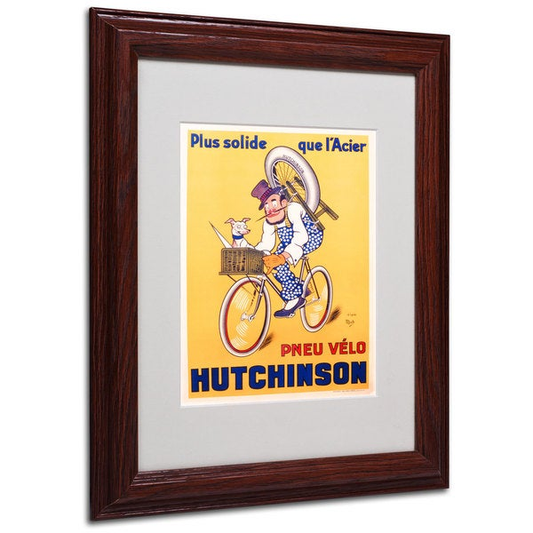 Mitch Liebeaux 'Hutchinson Tires 1937' White Matte, Wood Framed Wall Art