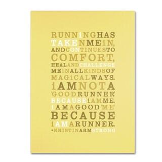 Megan Romo 'Strong Runner I' Canvas Art