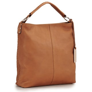 Phive Rivers Brown Leather Tote Handbag (Italy)