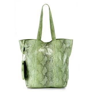 Phive Rivers Green Leather Tote Handbag (Italy)