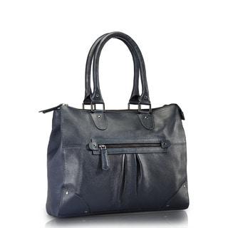 Phive Rivers Blue Leather Shoulder Handbag (Italy)