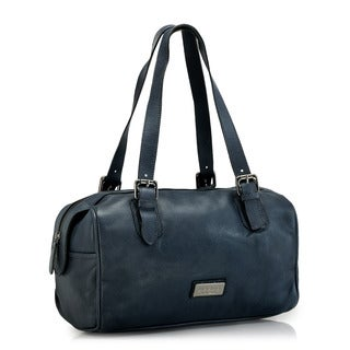 Phive Rivers Blue Leather Handbag (Italy)