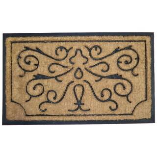 Swirls and Twirls Rubber Doormat