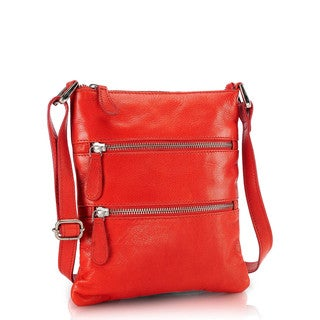 Phive Rivers Red Leather Sling Handbag (Italy)
