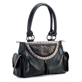 Phive Rivers Black Leather Handbag (Italy)