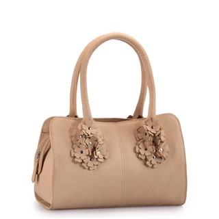 Phive Rivers Beige Leather Handbag (Italy)