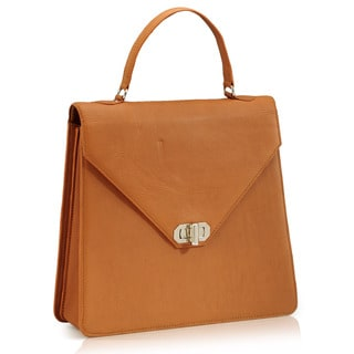 Handmade Phive Rivers Tan Leather Satchel Handbag (Italy)