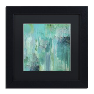 Color Bakery 'Aqua Circumstance II' Black Matte, Black Framed Wall Art