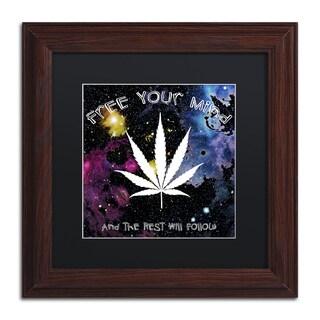 Potman 'Free Your Mind' Black Matte, Wood Framed Wall Art