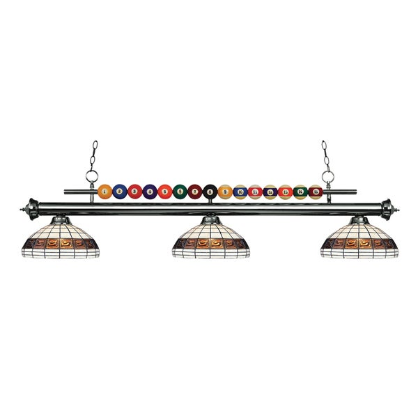 Avery Home Lighting Shark 3-light Island/Billiard Multi Colored Tiffany-style-finished Light