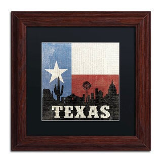 Moira Hershey 'Texas' Black Matte, Wood Framed Wall Art