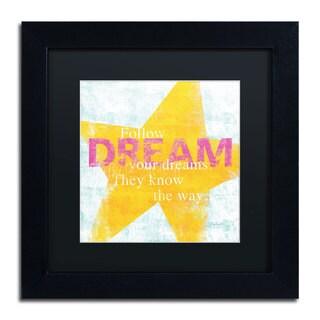 Sue Schlabach 'Letterpress Dream' Black Matte, Black Framed Wall Art