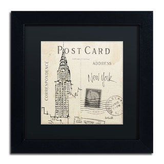 Anne Tavoletti 'Postcard Sketches I' Black Matte, Black Framed Wall Art