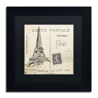 Anne Tavoletti 'Postcard Sketches III' Black Matte, Black Framed Wall Art