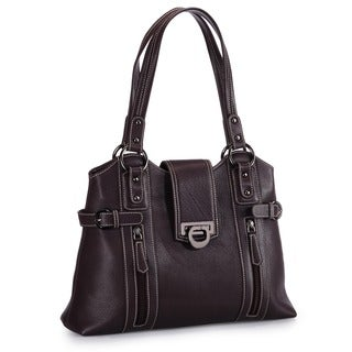 Phive Rivers Brown Leather Handbag (Italy)
