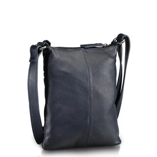 Phive Rivers Blue Leather Crossbody Handbag (Italy)