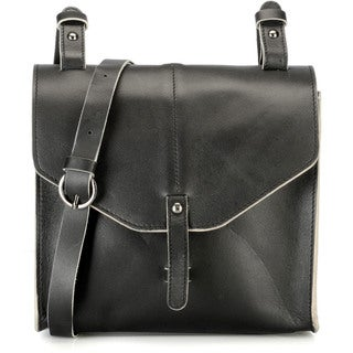 Phive Rivers Black Leather Crossbody Handbag (Italy)