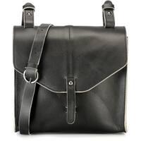 Handmade Phive Rivers Black Leather Crossbody Handbag (Italy) - One size