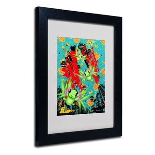 Miguel Paredes 'Pulgha Japan 2' White Matte, Black Framed Wall Art