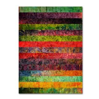 Michelle Calkins 'Brocade and Fifteen Stripes 1' Canvas Art