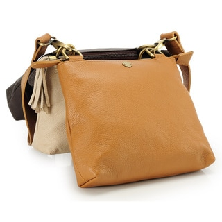 Phive Rivers Brown Leather Sling Handbag (Italy)