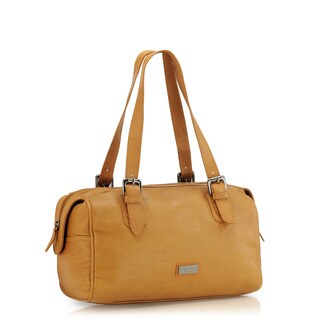 Phive Rivers Tan Leather Handbag (Italy)