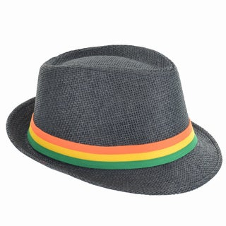 Faddism Fashion Striped Band Fedora Hat