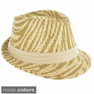 Faddism Fashion Zebra Pattern Fedora Hat