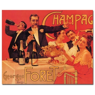 'Champagne Georges Foret' Canvas Art
