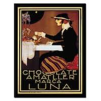 'Chocolate Amatller Lune' Canvas Art - Multi