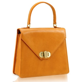 Phive Rivers Tan Leather Satchel Handbag (Italy)