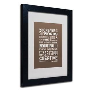 Megan Romo 'Creative Running II' White Matte, Black Framed Wall Art