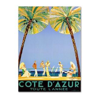 'Cote D'Azur' Canvas Art