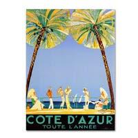 'Cote D'Azur' Canvas Art - Multi