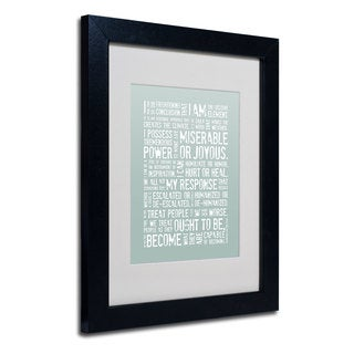 Megan Romo 'Decisive Elements I' White Matte, Black Framed Wall Art