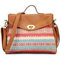 Handmade Phive Rivers Leather Tan Satchel Handbag (Italy) - One size