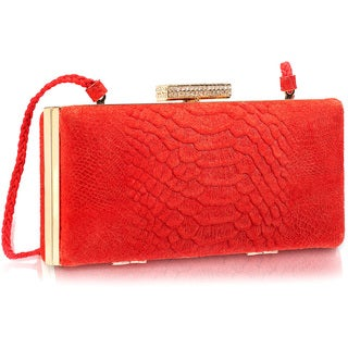 Phive Rivers Red Leather Clutch (Italy)